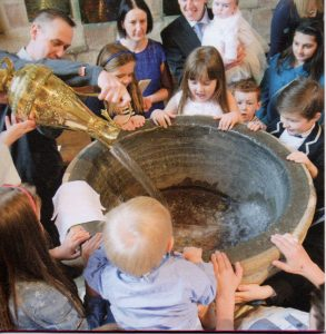 baptism as part of a christening