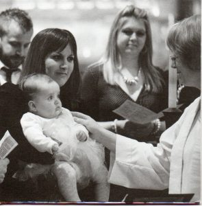 image opf the baptism of a child